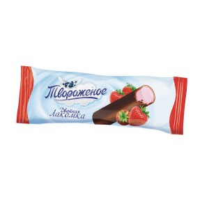 TVOROZHNOE - LAKOMKA MINICHEESECAKE BAR  STRAWBERRY
