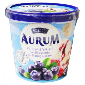 AURUM - VANILLA PLOMBIR WITH BLUEBERRY FILLING