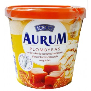 AURUM - VANILLA PLOMBIR WITH SALTY CARAMEL & ALMONDS