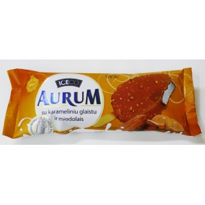 AURUM - CARAMEL-COATED VANILLA ICE CREAM WITH ALMONDS