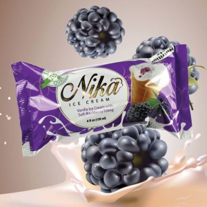 NIKA - VANILLA ICE CREAM WITH BLACKBERRY FILLING