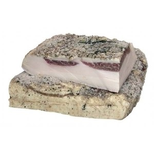 SMOKE HOUSE - PORK BACKFAT IN BLACK PEPPER, LARGE SLAB