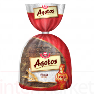 AGOTOS - DARK RYE BREAD, HALF LOAF