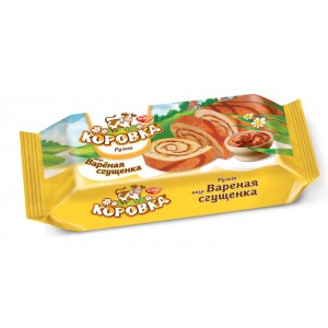ROT FRONT - BOILED CONDENSED MILK MOO-COW KOROVKA SWISS ROLL