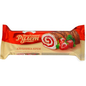 ROSHEN - STRAWBERRY SWISS ROLL
