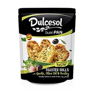 DULCESOL - TOASTED ROLLS WITH GARLIC, OLIVE OIL & PARSLEY