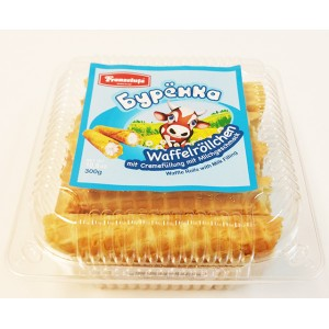 FRANZELUTA - WAFFLE ROLLS BURYONKA WITH CREAM FILLING