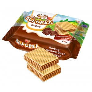 ROT FRONT - WAFERS MOO-COW KOROVKA WITH CHOCOLATE FILLING
