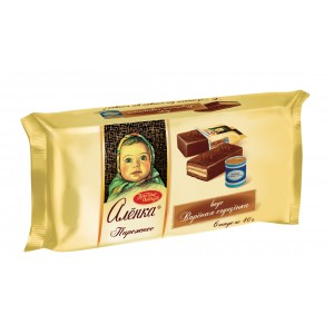 KRASNIY OKTYABR - WAFER ALYONKA CAKE WITH BOILED CONDENSED MILK