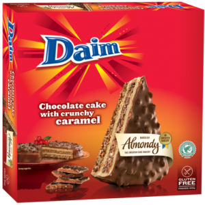 "ALMOND CAKE WITH CRUNCY CARAMEL ""DAIM"" (SWEDEN)"