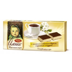 KRASNIY OKTYABR - WAFER ALYONKA GLAZED CAKE WITH CREAMY TASTE