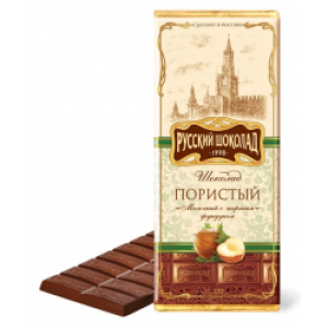 RUSSIAN CHOCOLATE - AERATED MILK CHOCOLATE WITH GRATED FILBERT
