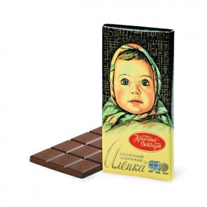 KRASNIY OKTYABR - ALYONKA RUSSIAN CHOCOLATE BAR
