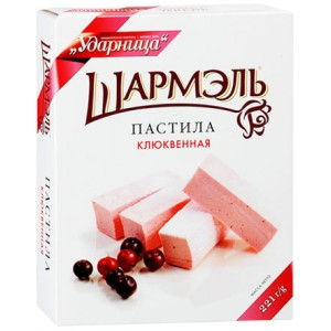 SHARMEL - CRANBERRY MARSHMALLOW STICKS (PASTILA KLYUKVA)