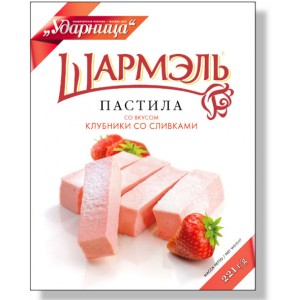 SHARMEL - STRAWBERRIES AND CREAM MARSHMALLOW STICKS (PASTILA KLUBNIKA)