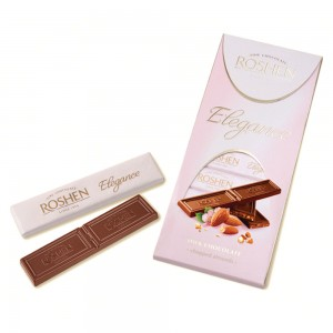 ROSHEN - ELEGANCE MILK CHOCOLATE WITH ALMONDS