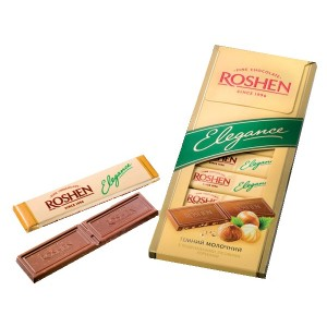 ROSHEN - ELEGANCE MILK CHOCOLATE WITH HAZELNUTS