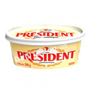 PRESIDENT - FRENCH UNSALTED BUTTER, ROUND PACKING