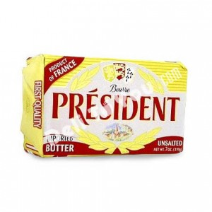 PRESIDENT - FRENCH UNSALTED BUTTER, BRIQUETTE