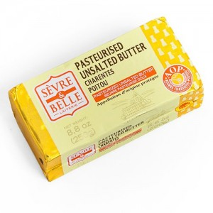 SERVE & BELLE - FRENCH PASTEURIZED UNSALTED BUTTER, BRIQUETTE