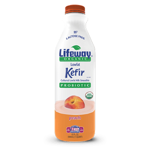 LIFEWAY - PROBIOTIC PEACH ORGANIC LOW FAT KEFIR