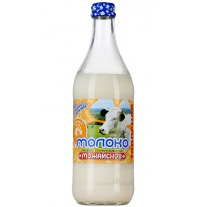 MOZHAYSKOYE - BRAND MILK, 4.0% FAT CONTENT, GLASS BOTTLE
