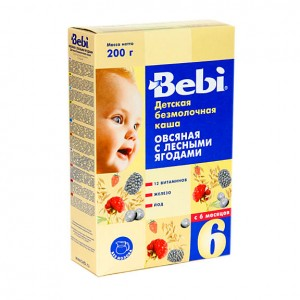 BEBI - DAIRYFREE OATMEAL KASHA WITH WILD BERRIES