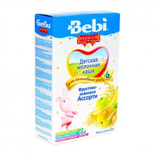 BEBI - MILK KASHA WITH FRUIT & CEREAL MIX