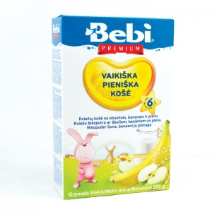 BEBI - MILK KASHA WITH WHEAT, APPLE & BANANA