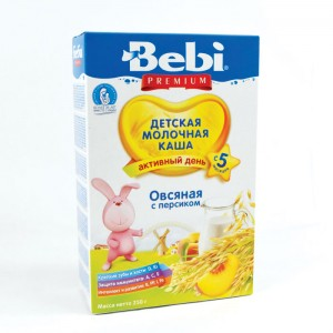 BEBI - MILK KASHA FROM OATMEAL WITH PEACH