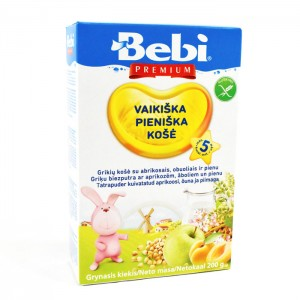 BEBI - MILK KASHA BUCKWHEAT WITH APPLE AND APRICOT