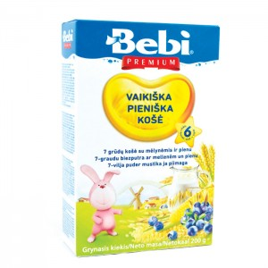 BEBI - 7 CEREALS MILK KASHA WITH BLUEBERRIES