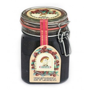 ECOPRODUKT - HOMEMADE COWBERRY PRESERVE (BRUSNIKA)