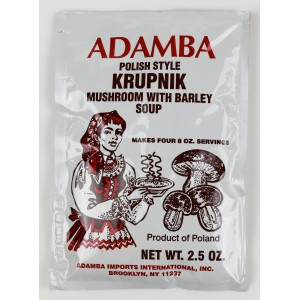 ADAMBA - MUSHROM AND BARLEY SOUP KRUPNIK POLISH STYLE