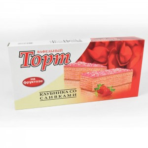 FRUCTOSE WAFER CAKE - STRAWBERRY WITH CREAM