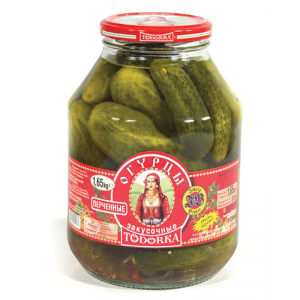 TODORKA - GHERKINS WITH PEPERONCHINI FOR A SNACK, HOT 3.6lb