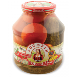 TODORKA - ASSORTI PICKLED TOMATOES & GHERKINS 3.68lb
